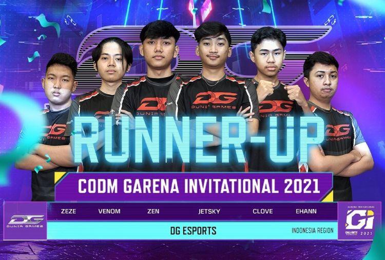 DG Esports raih runner up turnamen CODM Garena Invitational 2021