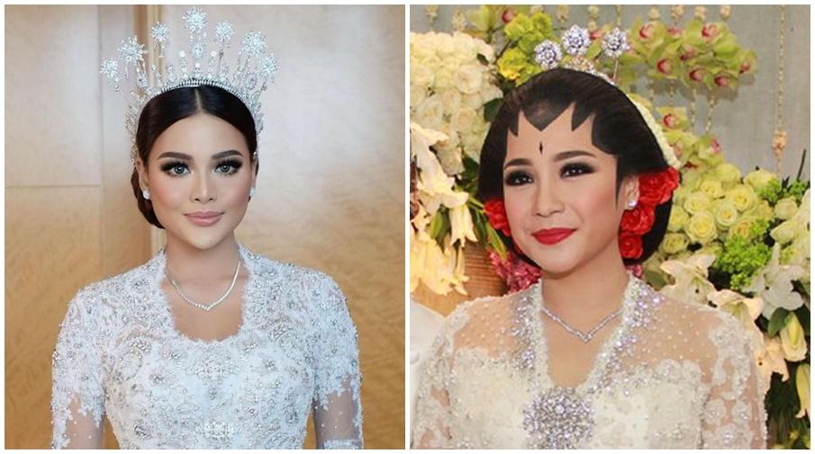 Nagita dan Aurel kembaran kalung nikah © 2021 brilio.net