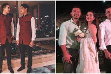 Gaya 10 seleb ganteng saat jadi groomsmen, Baim Wong curi perhatian