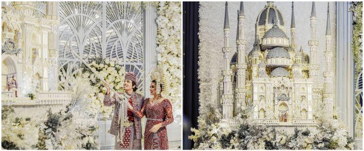 Potret kue pernikahan 5 seleb ini bak bangunan istana, megah banget