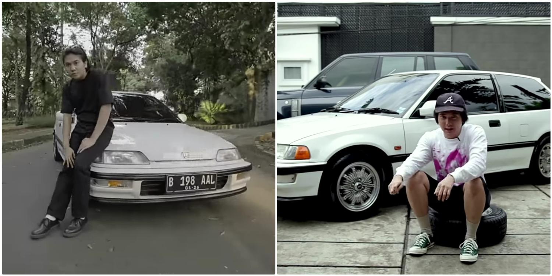 Hobi otomotif jadul, 10 momen Iqbaal Ramadhan utak-atik mobil klasik