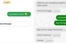 11 Chat lucu driver ojek online nyapa customer ini bikin cekikikan