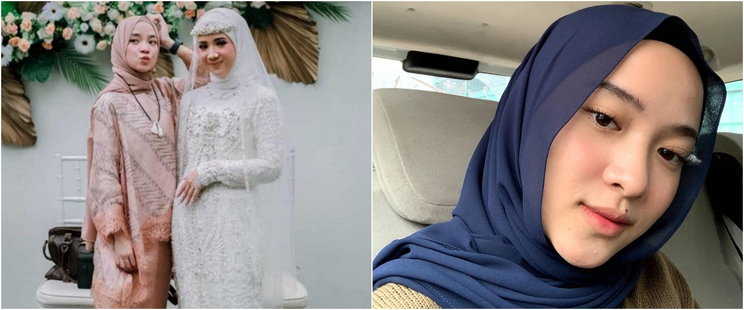 8 Potret Nissa Sabyan di pernikahan sang kakak, gayanya curi perhatian