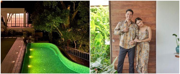 12 Penampakan rumah baru Nana Mirdad, dikelilingi pohon besar