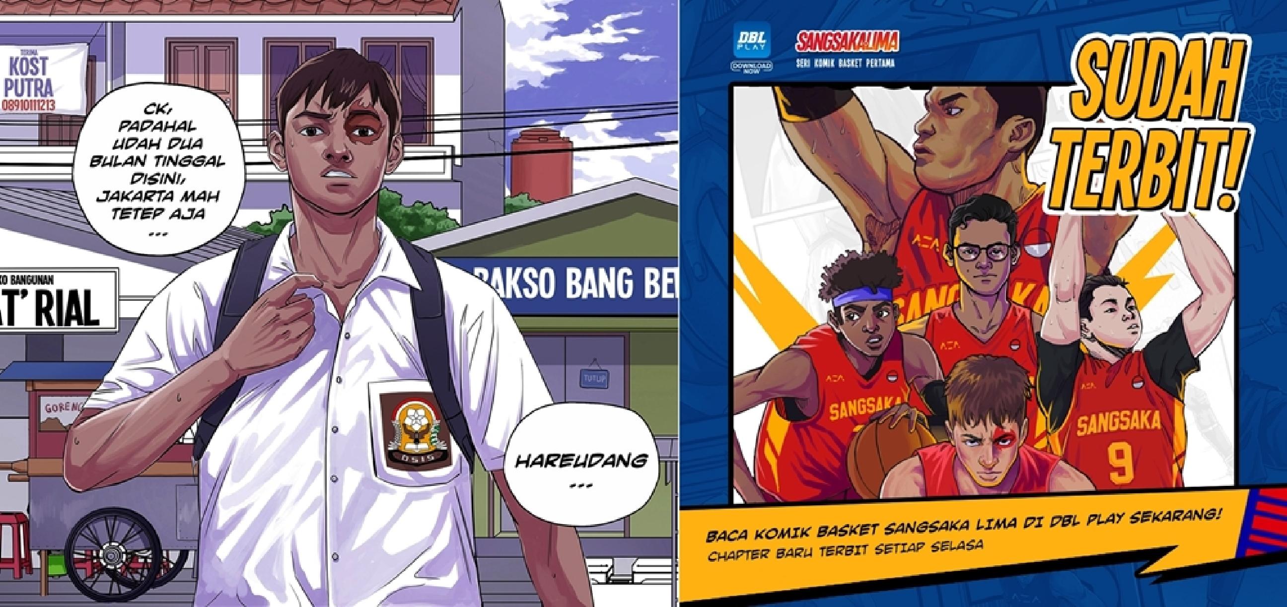 Seri komik basket pertama di Indonesia, Sangsaka Lima sudah terbit lho