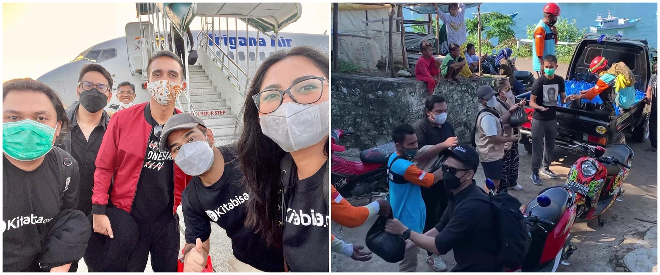 10 Momen Rachel Vennya jadi relawan banjir NTT, tak kuasa tahan tangis