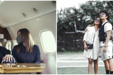10 Potret keseruan Atta dan Aurel keliling Bali naik helikopter