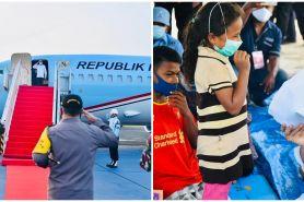 8 Momen Presiden Jokowi tinjau warga NTT, beri korban bencana jaket