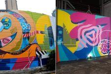 Dua seniman ini bikin mural lintas negara, karya mereka bak puzzle