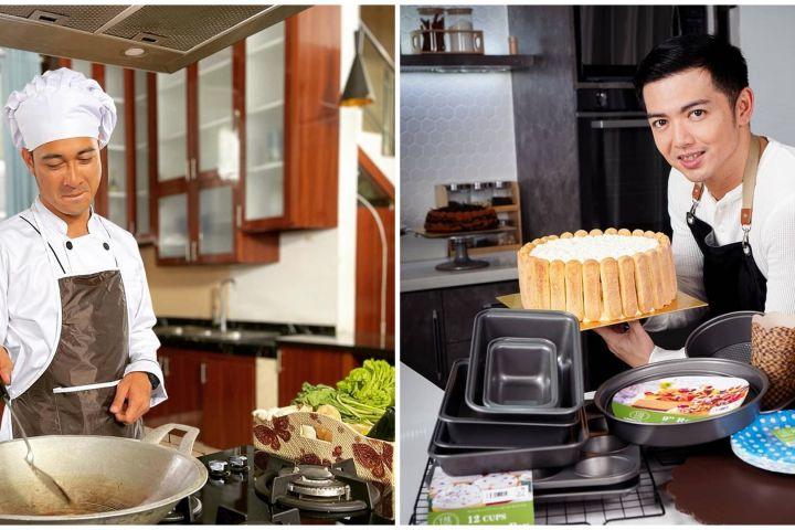 Aksi 10 seleb tampan saat masak, penampilannya curi perhatian