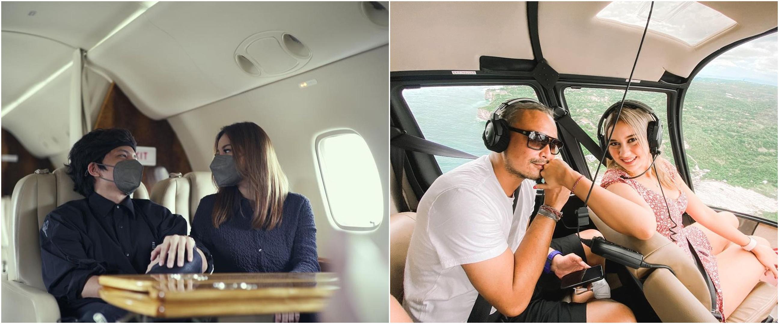 Momen mesra 8 pasangan seleb di dalam pesawat, terbaru ada Atta-Aurel