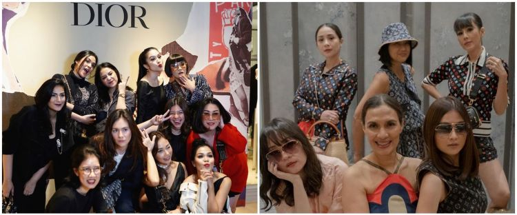 10 Momen Nagita Slavina di acara brand fashion, ada Louis Vuitton