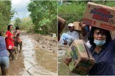 Viral istri Bupati Sumba Timur terjang lumpur antar bantuan