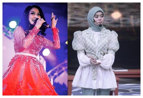Beda gaya Lesty Kejora dan Siti Badriah di panggung © berbagai sumber