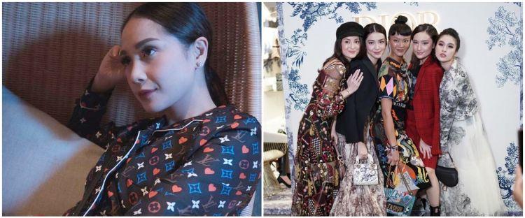 Gaya 11 seleb di acara brand fashion dunia, Nagita di Louis Vuitton