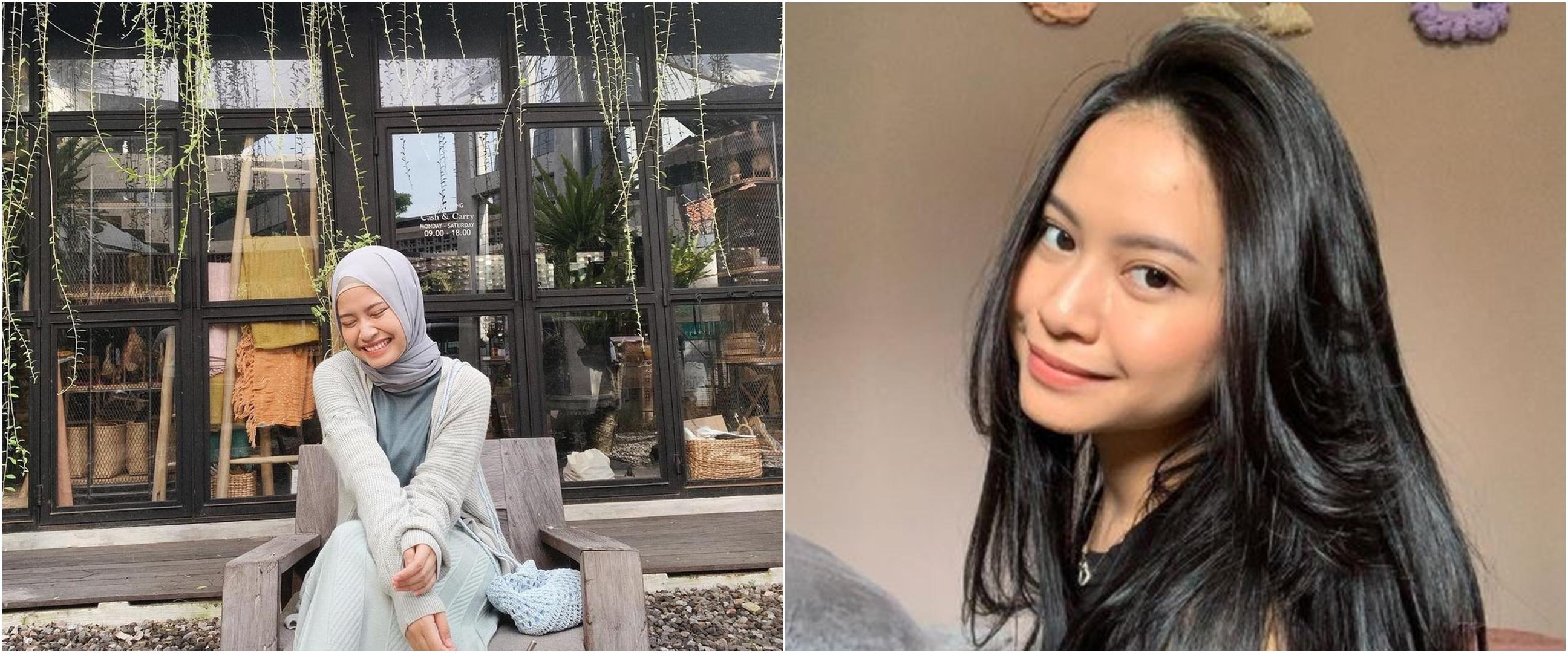 8 Potret Hanggini 'Ustad Milenial' kenakan hijab, pesonanya manglingi