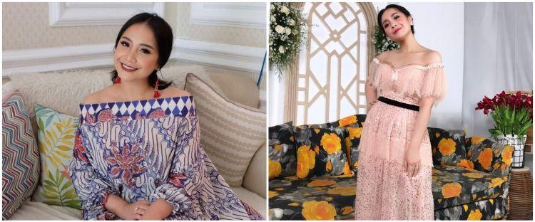 Taksiran harga 10 fashion item Nagita kondangan, gaunnya Rp 39 juta