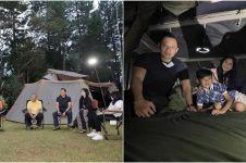 7 Momen keluarga SBY liburan, kompak tidur di tenda