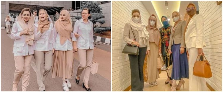 10 Potret Mulan Jameela bersama anggota DPR, gayanya bak sosialita