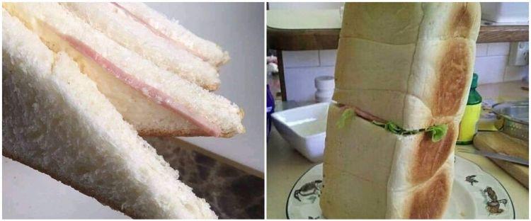 15 Potret absurd roti sandwich ini bikin tepuk jidat