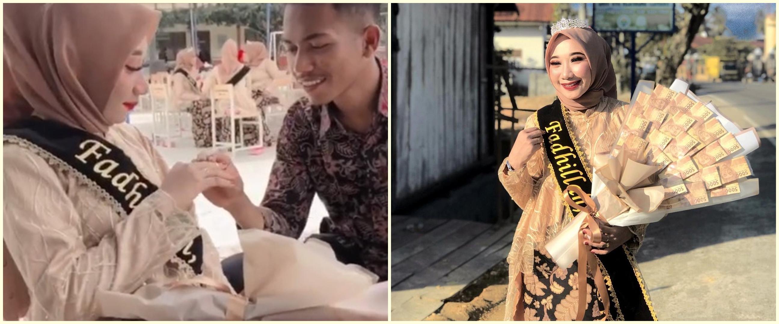 Viral video wanita dilamar saat wisuda, romantis dan bikin baper