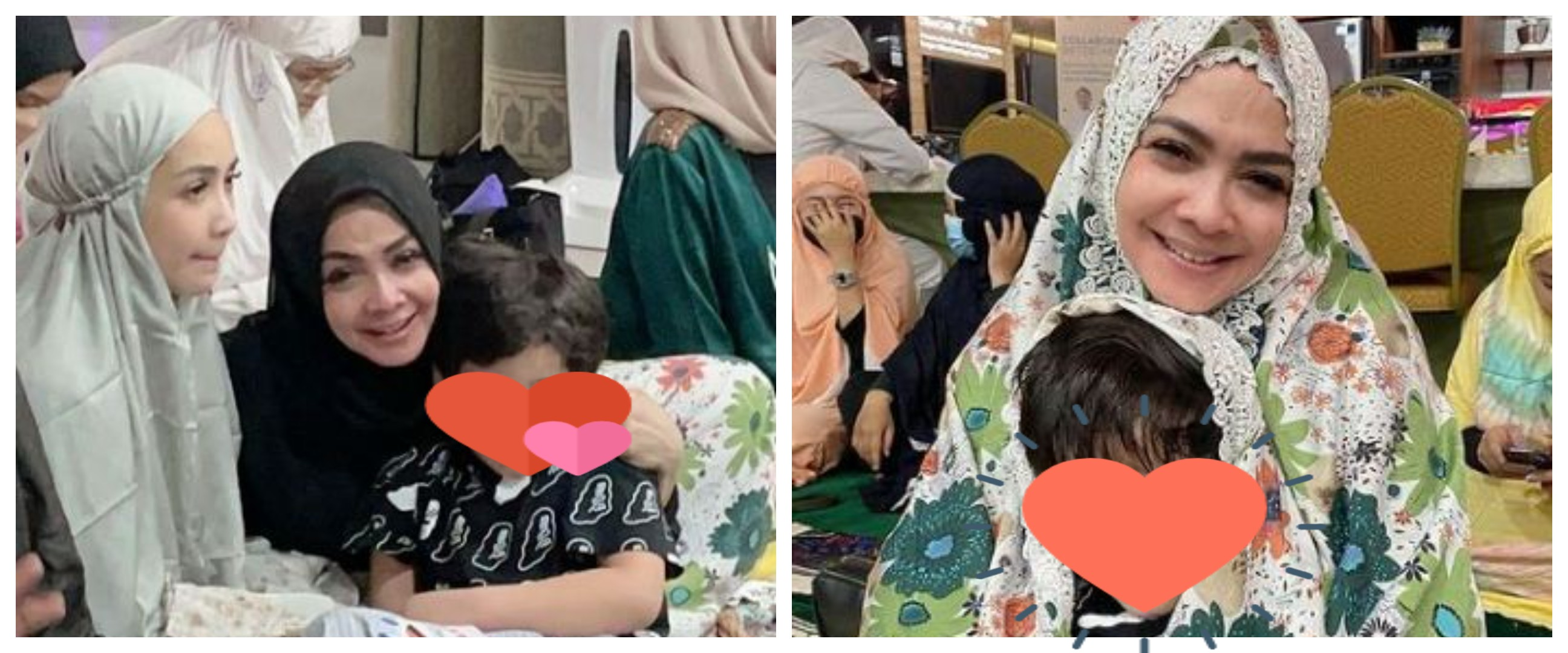 7 Momen tarawih Rieta Amilia & Nagita, diimami Syekh Muhammad Jaber