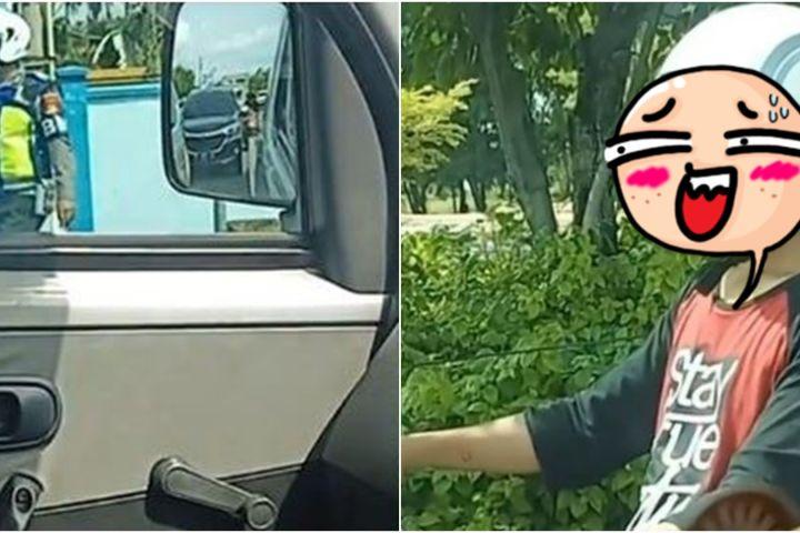Viral video pemuda panik nggak pakai helm & takut ditilang polisi