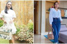 10 Beda gaya Ashanty dan Krisdayanti di keseharian, fresh dan stylish