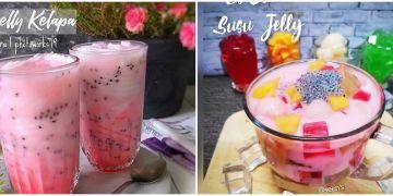10 Resep minuman berbuka berbahan jelly, enak, segar dan mudah dibuat