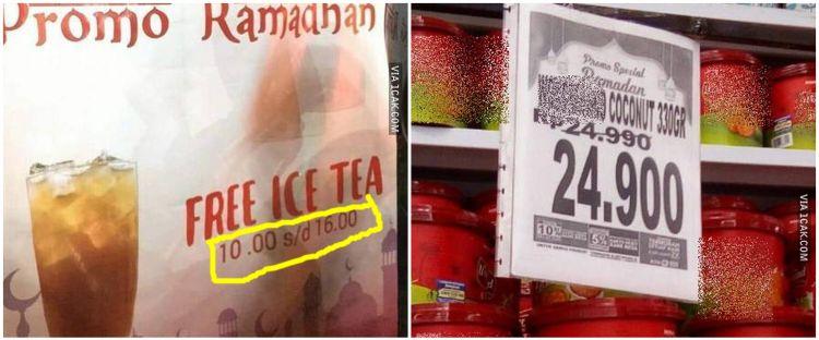 8 Promosi unik spesial Ramadan ala pedagang ini bikin senyum tipis