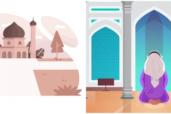 Doa masuk dan ke luar masjid sesuai ajaran Rasulullah beserta artinya