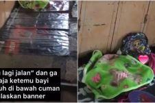 Viral bayi tidur sendirian di trotoar tanpa menangis, kisahnya haru