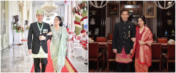 Dua wanita cantik ini memang kerap tampil dalam balutan busana khas wanita Indonesia tersebut