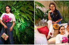 10 Gaya Nagita, Luna Maya, dan Ayu Dewi di acara Gucci, berkelas
