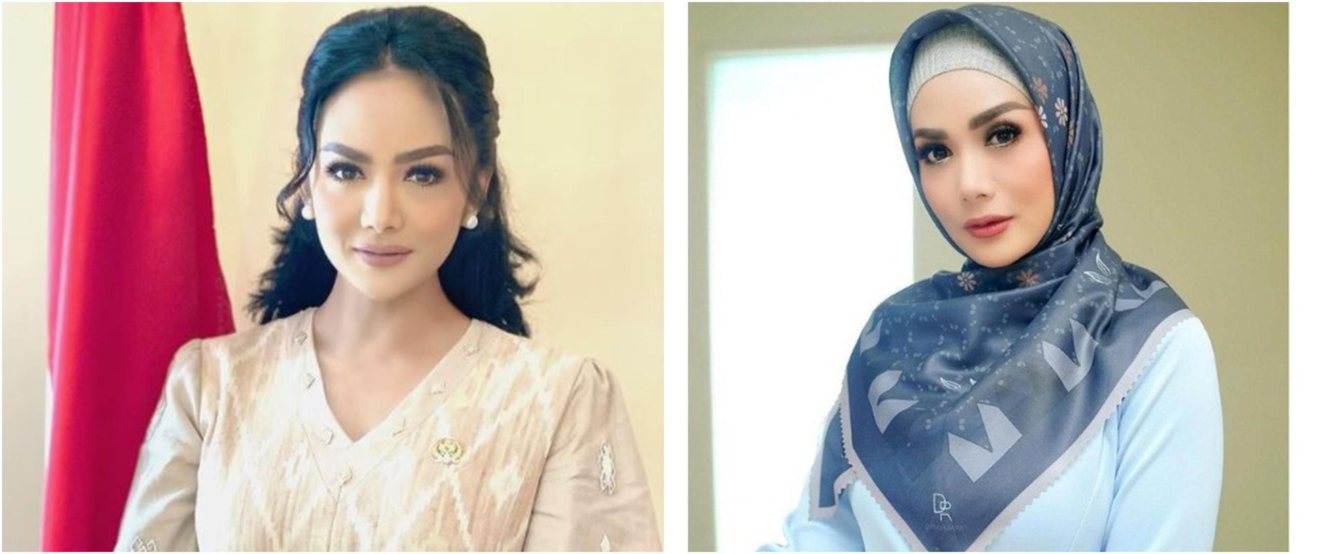 10 Potret Krisdayanti ketika kenakan hijab, makin memesona