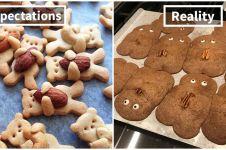10 Potret ekspektasi vs realita kue kering, bikin senyum miris