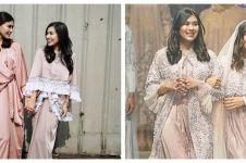 7 Beda gaya Syahnaz Sadiqah dan Nisya Ahmad pakai gamis, memesona