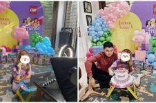 6 Momen perayaan ulang tahun Embun anak Ananda Omesh, bertema Lego