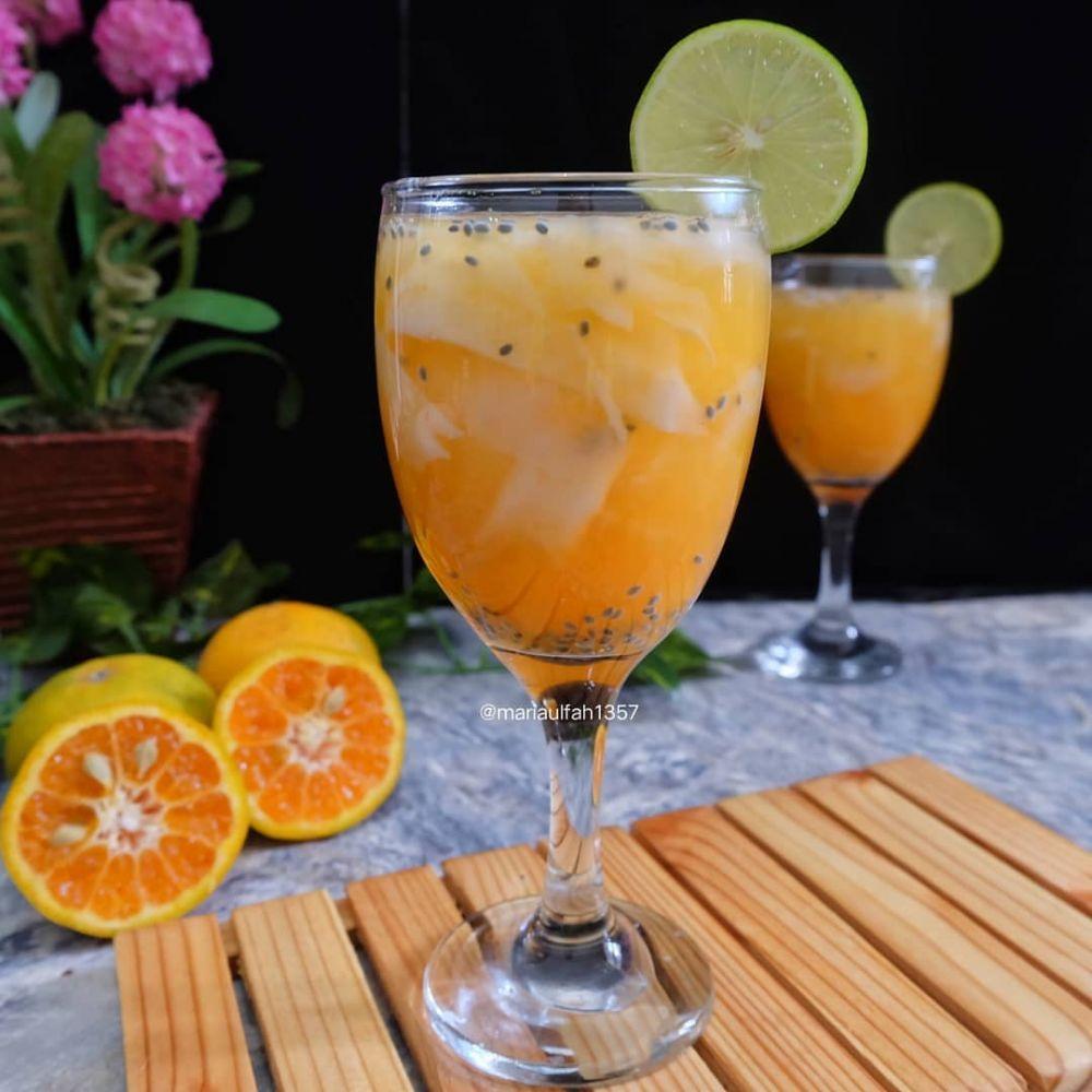 Resep minuman buka puasa berbahan jeruk © Instagram