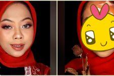 Viral aksi perempuan lukiskan kondisi Indonesia di awal 2021, pilu
