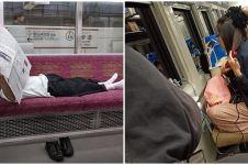 10 Aksi terlalu santai penumpang angkutan umum ini bikin ngakak