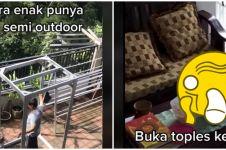 Video suka duka punya rumah semi outdoor, didatangi 'tamu tak terduga'