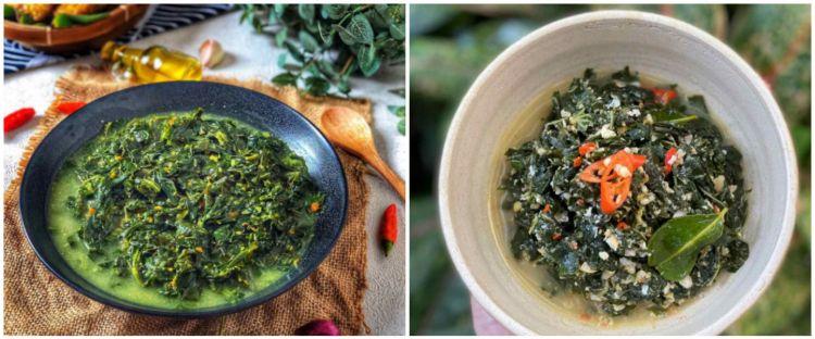 9 Resep menu buka puasa sayur daun singkong pedas, enak & mudah dibuat