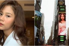 Heboh wajah Nadin Amizah terpampang di Times Square New York