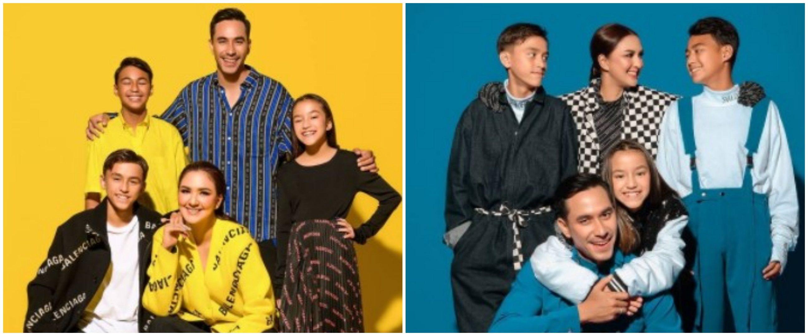 10 Gaya pemotretan terbaru keluarga Darius Sinathrya, penuh warna