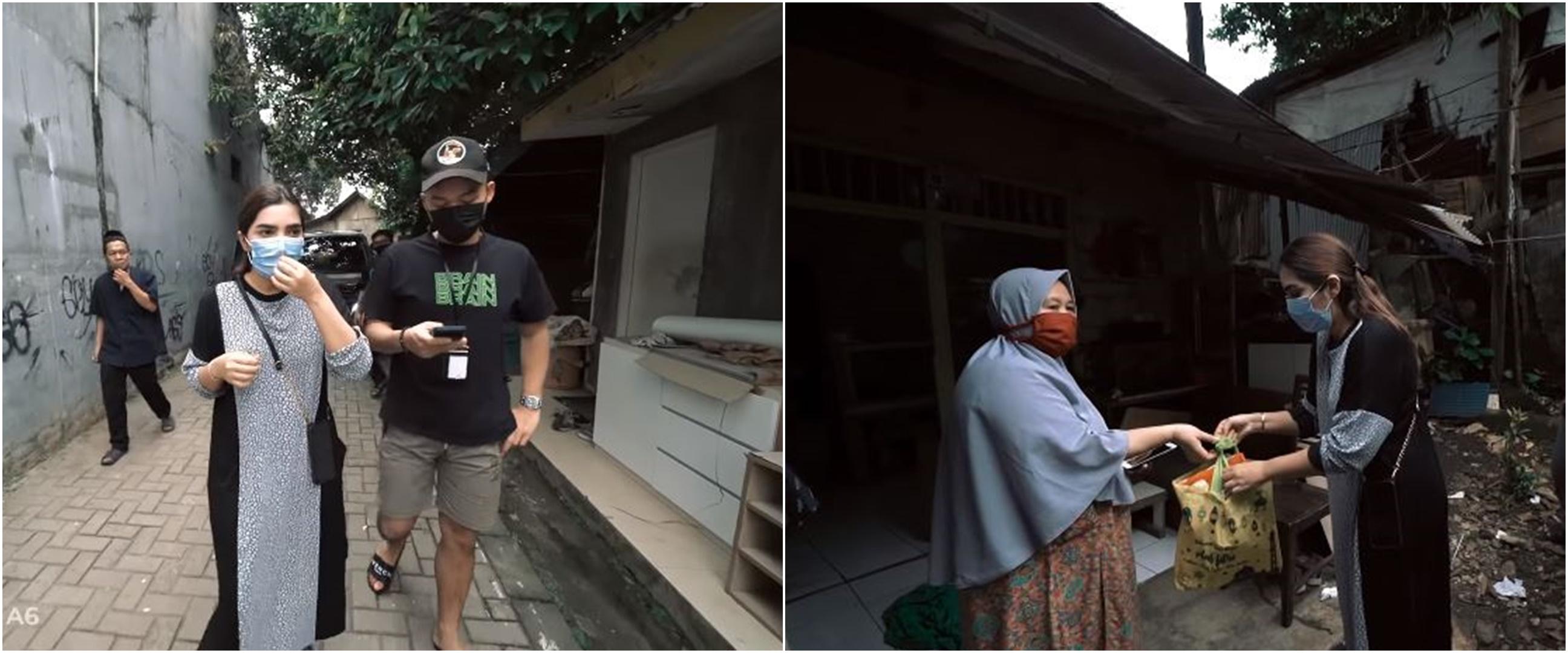 10 Momen Ashanty berbagi kepada sesama, bagikan 100 paket sembako