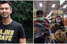 10 Momen Raffi Ahmad borong baju Lebaran, langsung ke gudangnya