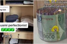 Viral video suami perfeksionis susun rapi belanjaan hingga uang receh