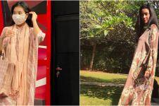8 Beda gaya Marcella Zalianty dan Olivia Zalianty saat kenakan kaftan