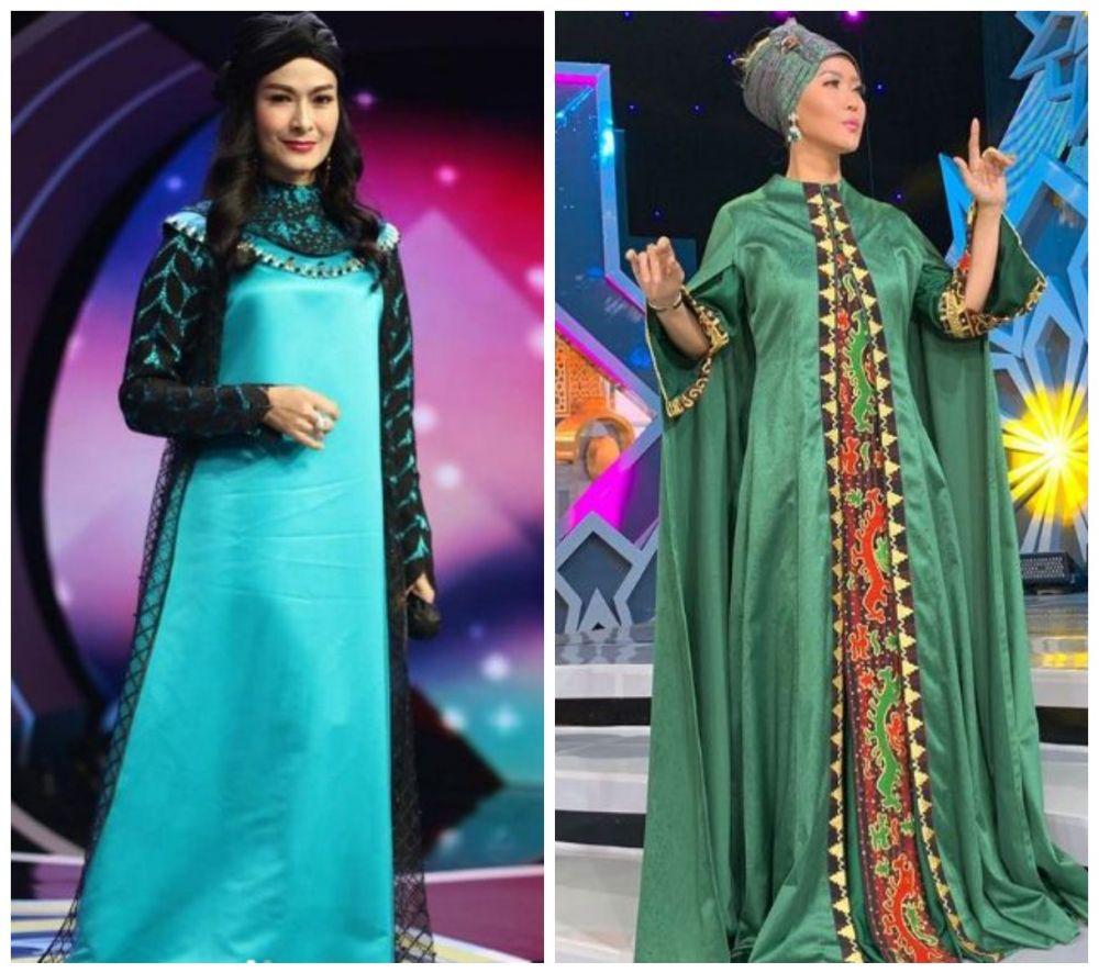Beda gaya Iis Dahlia dan Inul Daratista pakai gamis © Instagram/@isdadahlia dan Instagram/@inul.d